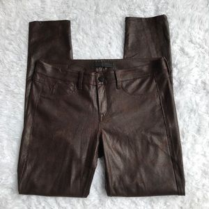 Sold Design Lab Faux Leather Suede Pants Brown 31